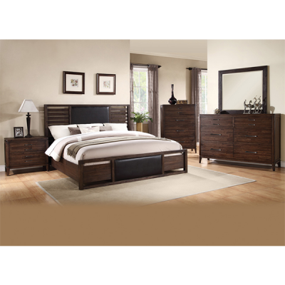 Wood 8 PC Bedroom Suite from R&T Furniture