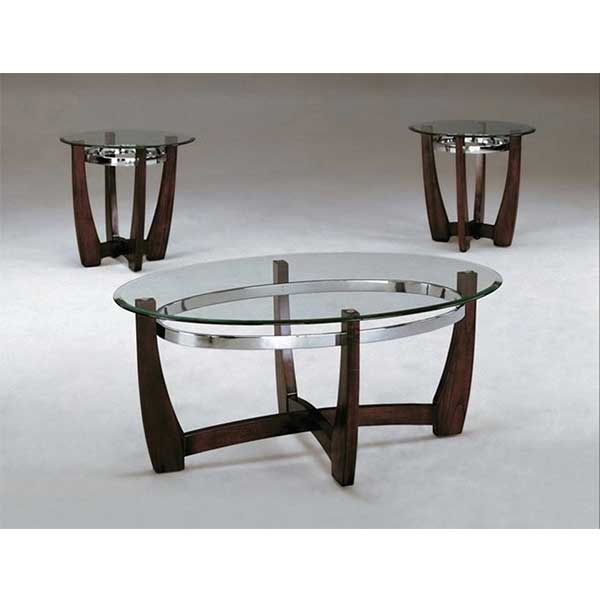 3pc Glass Cherry Cocktale tables by R&T Furniture