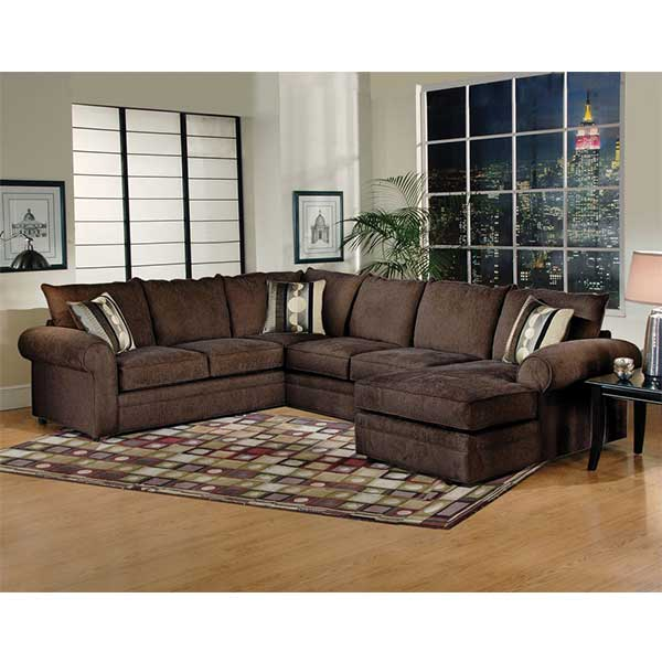 Sidekick Fudge 3 pc sectional with chaise by R&T Furniture