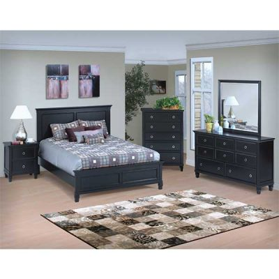 Black Finish 8 pc Bedroom suite from R&T Furniture