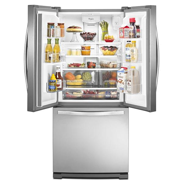 Rental city whirlpool 19 6 cu ft french door refrigerator for 19 6 cu ft french door refrigerator