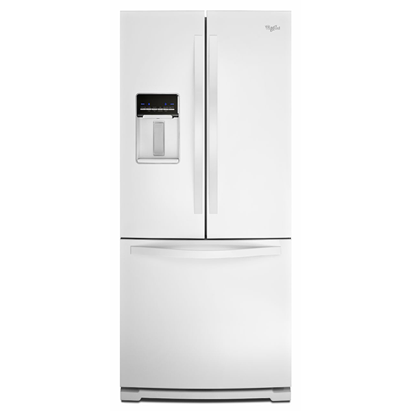 rental city whirlpool 19 6 cu ft french door refrigerator