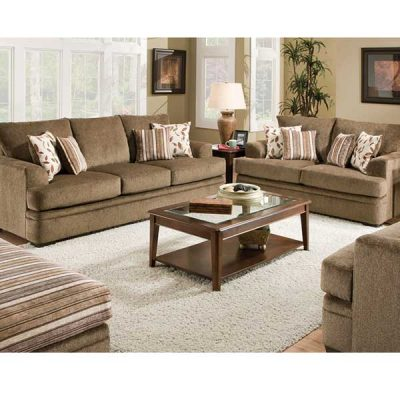 Cornelle Cocoa Sofa & Oversized chair by R&T Furniture