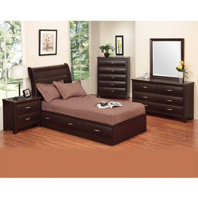 Espresso Youth Bedroom suite from R&T Furniture