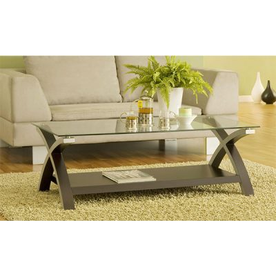 MEGA Glasstop Coffeetable