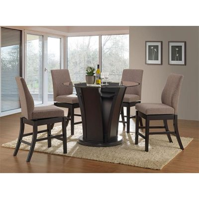 MEGA 660 Swivel Chair glass top dinette